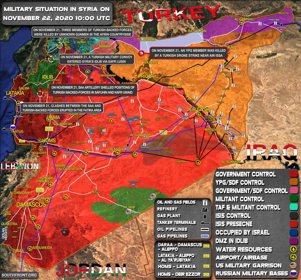 Military Situation In Syria On November 22, 2020 (Map Update)