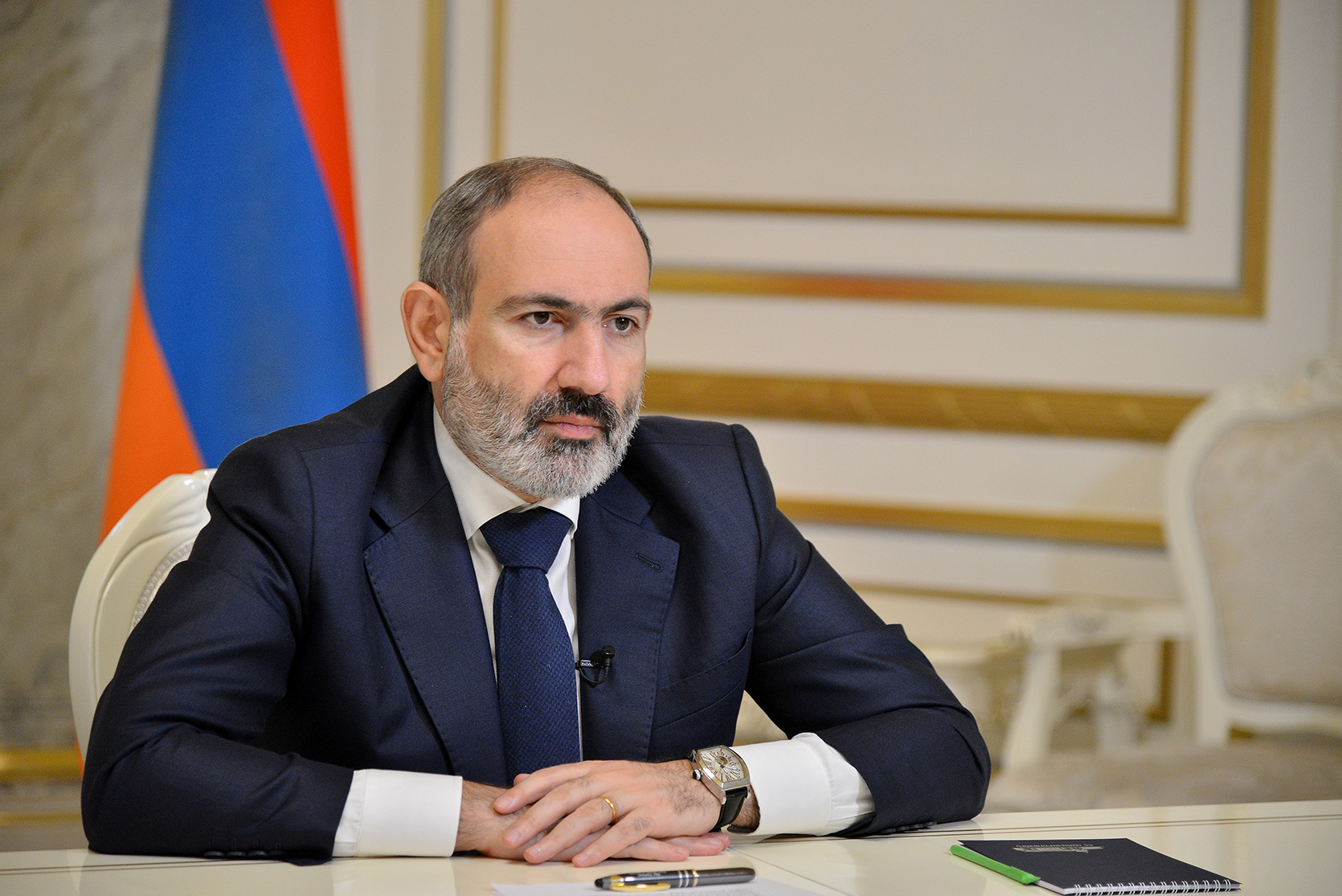"Pashinyan Addresses The Nation, Says He Won't Resign, Blames Opposition And ""External"" Forces For Chaos"