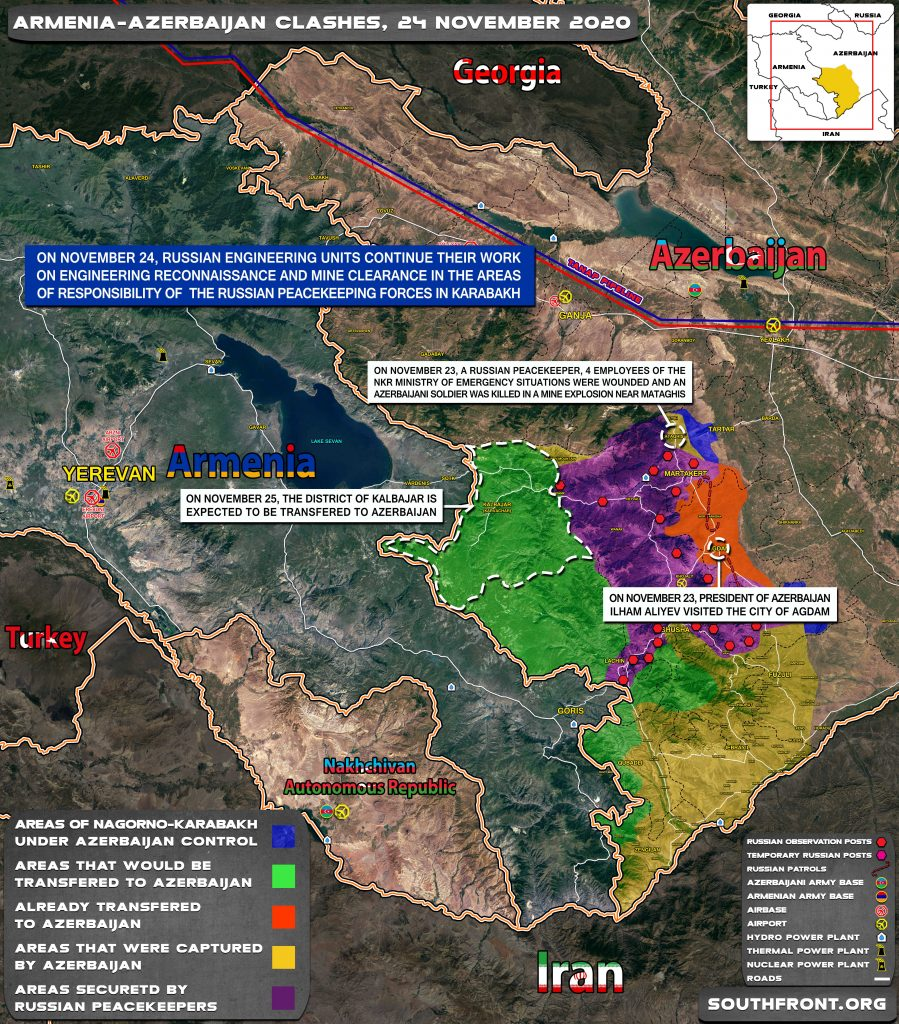 Map Update: Military Situation In Nagorno-Karabakh On November 24, 2020