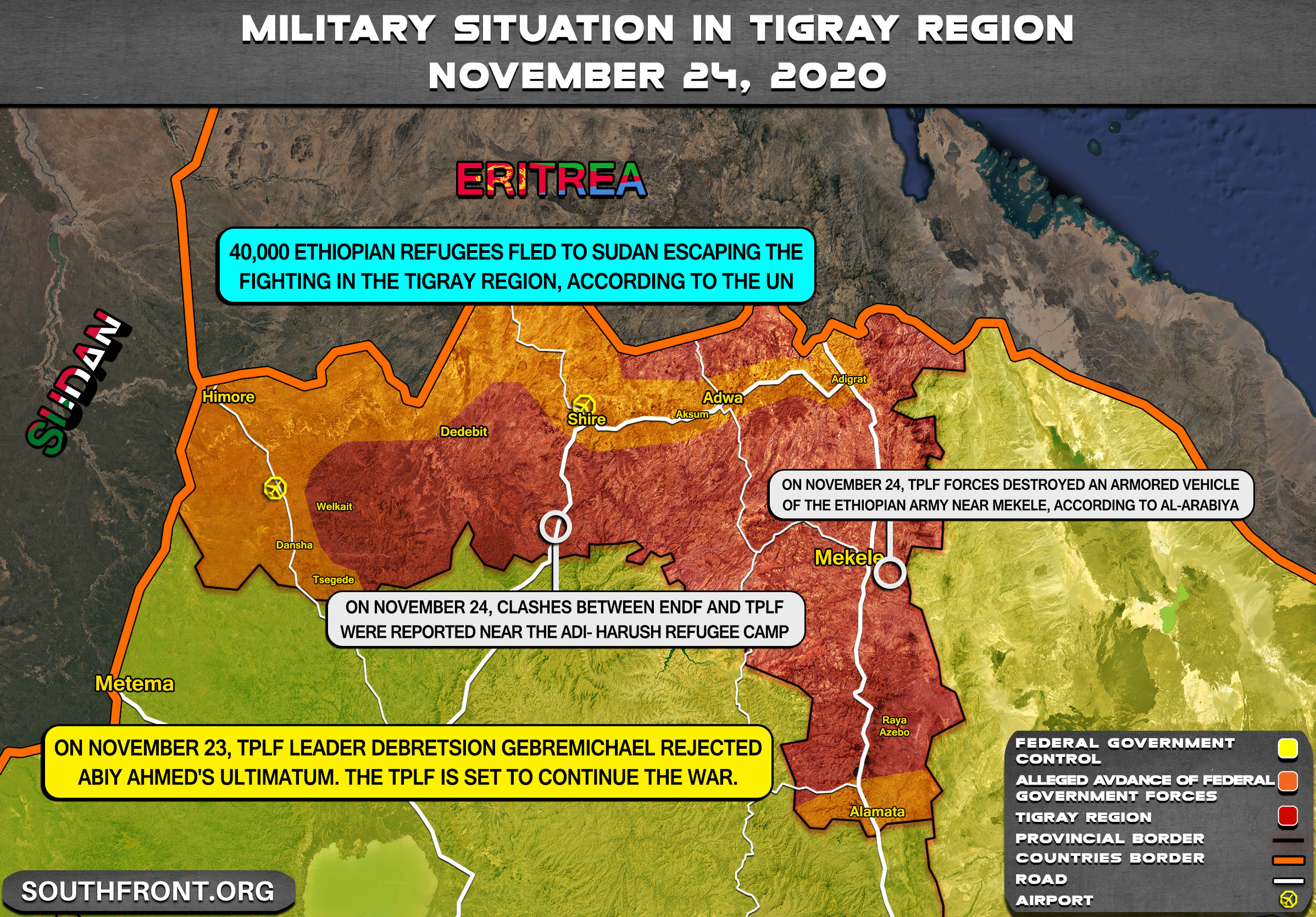Tigray's Forces Reject Ultimatum, Claim They Destroyed Government Forces Mechanized Division
