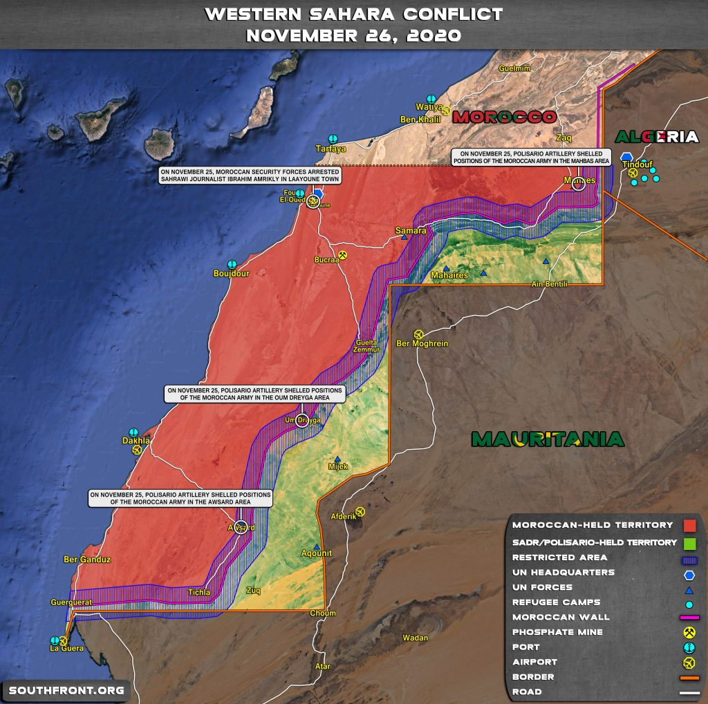 Moroccan Armed Forces Secury Guerguerat Border Post, And Reinforce Its Positions, Clashes In Western Sahara Continue