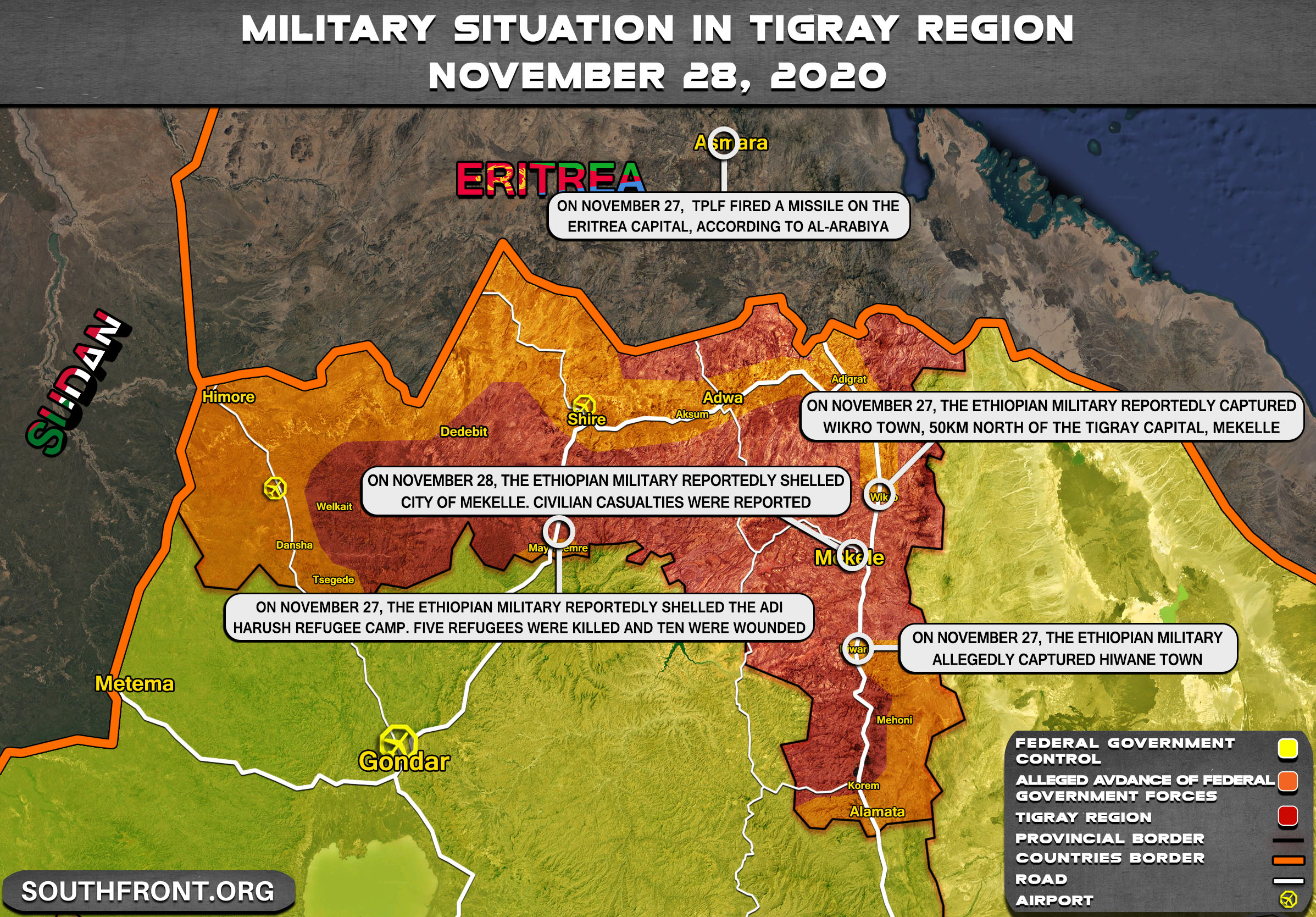 Final Offensive: Ethiopian Government Forces Captured Tigray's Capital (Updated)