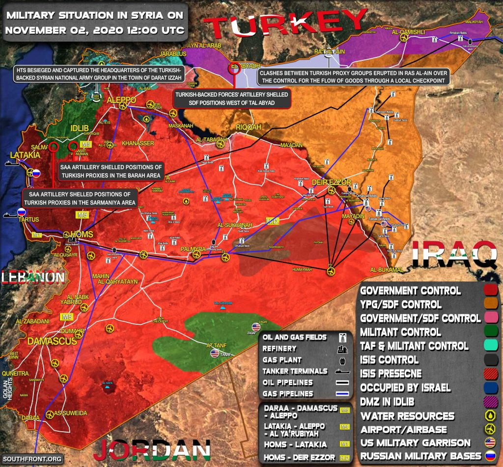 Military Situation In Syria On November 2, 2020 (Map Update)