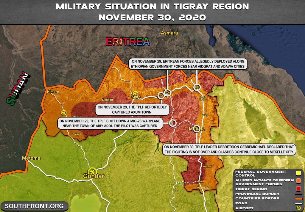 War In Ethiopia's Tigray Continues Despite Fall Of Provincial Capital To Government Forces (Map Update)