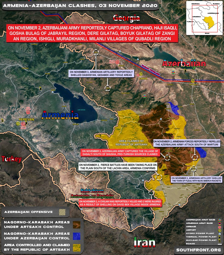 Armenian-Azerbaijani War: Military Situation In Nagorno-Karabakh On November 3, 2020