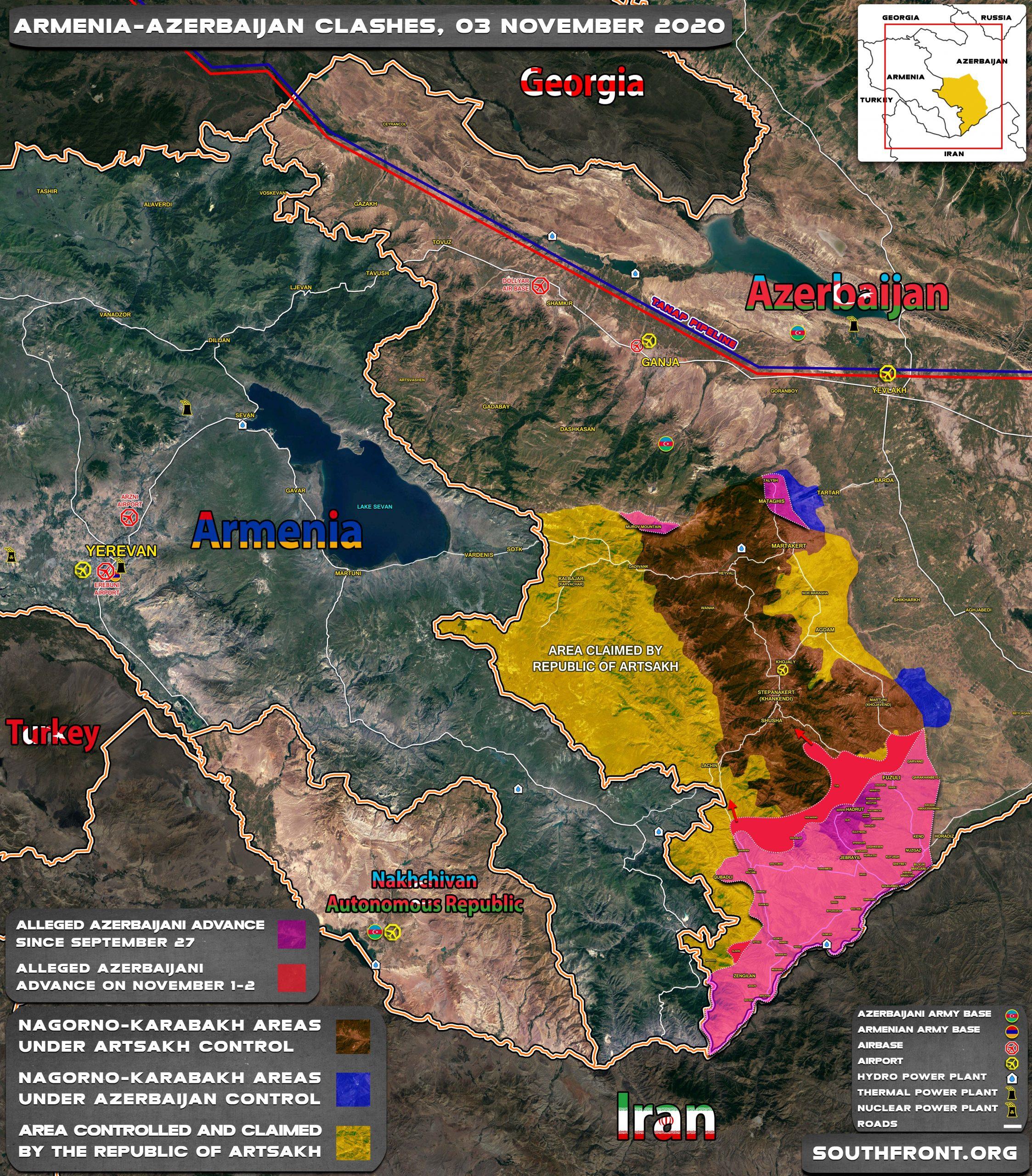 VOJNE ZANIMLJIVOSTI 3nov_Azerbaijan_Armenia_map_2-2-scaled