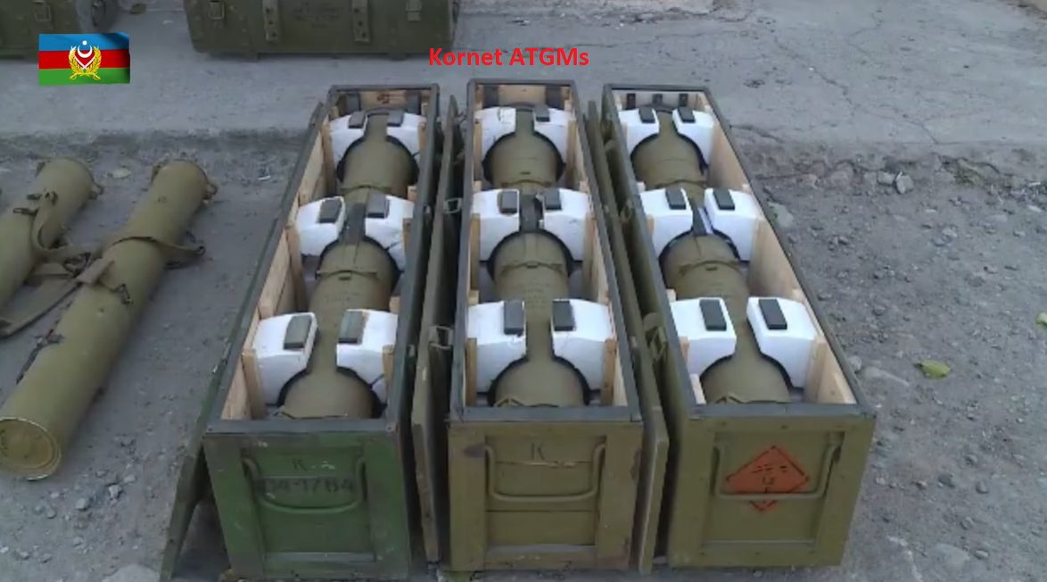 Azerbaijani Military Seized Heavy Guns, Guided Missiles From Armenian Troops (Video)