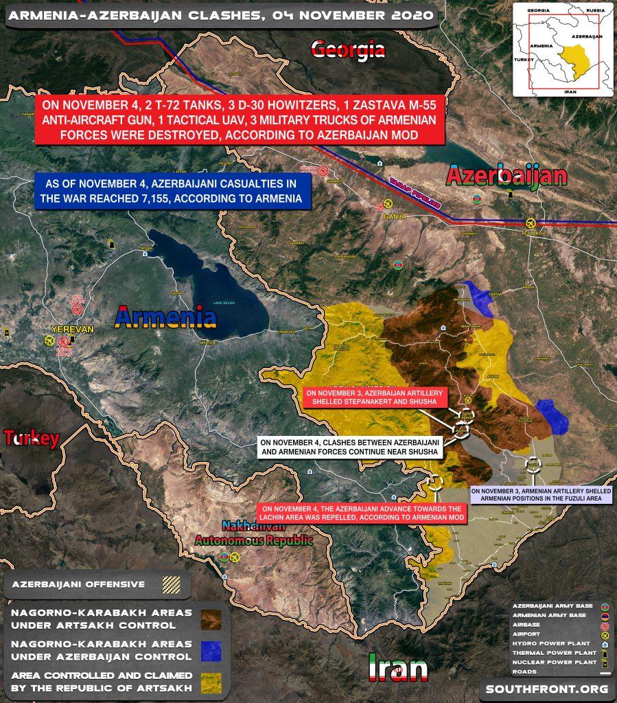 Armenian-Azerbaijani War: Military Situation In Nagorno-Karabakh On November 4, 2020