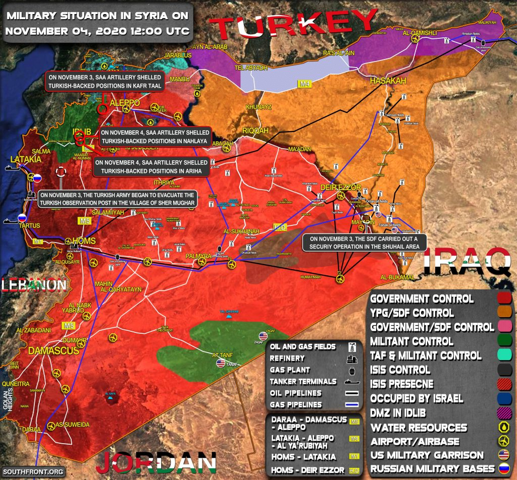 Military Situation In Syria On November 4, 2020 (Map Update)