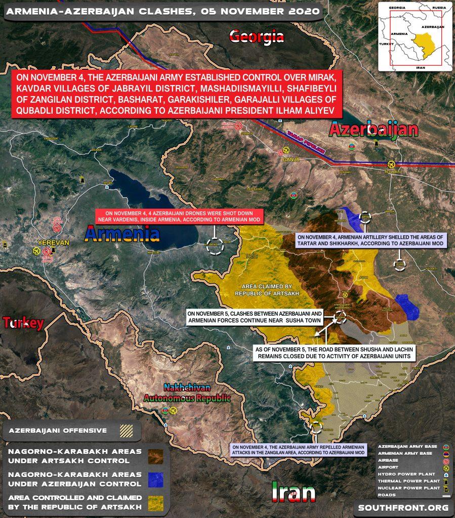 Armenian-Azerbaijani War: Military Situation In Nagorno-Karabakh On November 5, 2020
