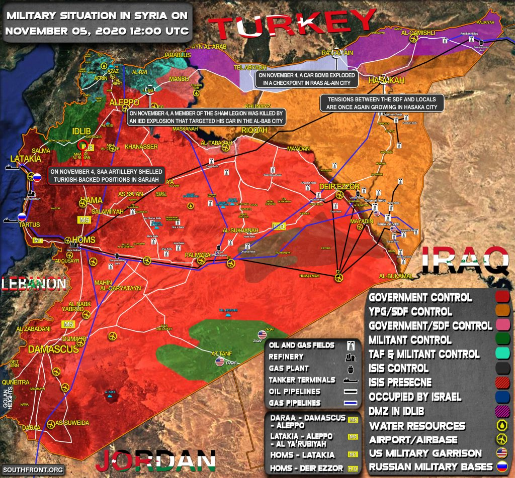 Military Situation In Syria On November 5, 2020 (Map Update)