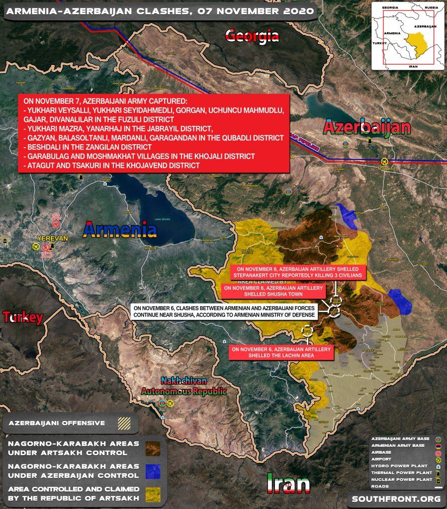 Armenian-Azerbaijani War: Military Situation In Nagorno-Karabakh On November 7, 2020