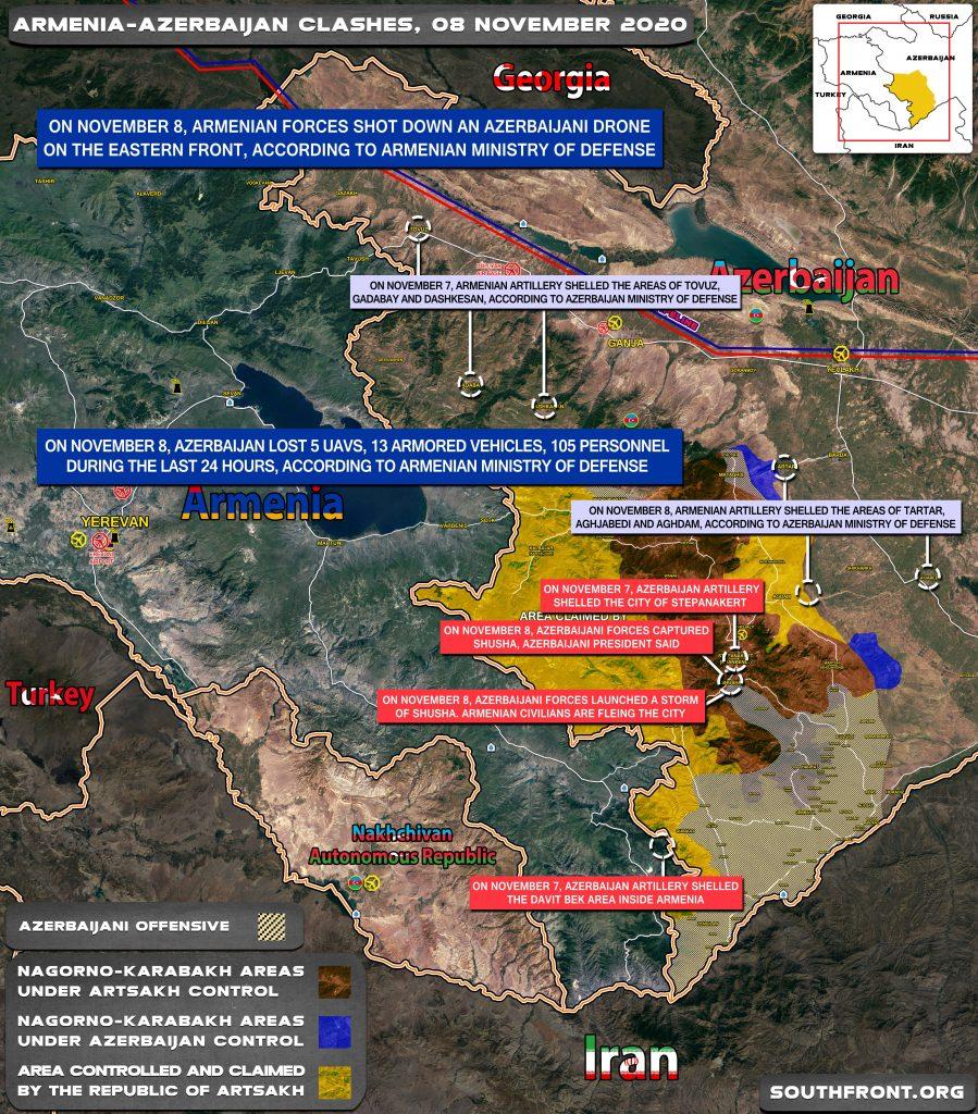 Armenian-Azerbaijani War: Military Situation In Nagorno-Karabakh On November 8, 2020