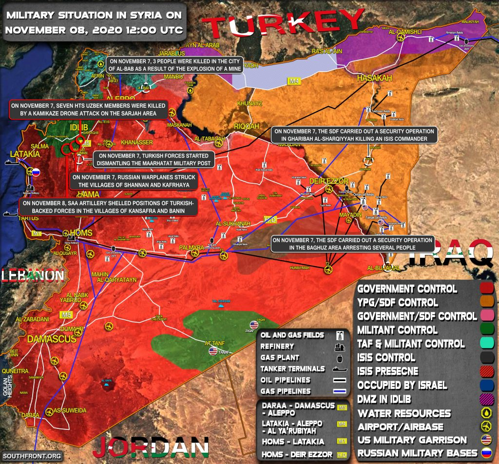 Military Situation In Syria On November 8, 2020 (Map Update)