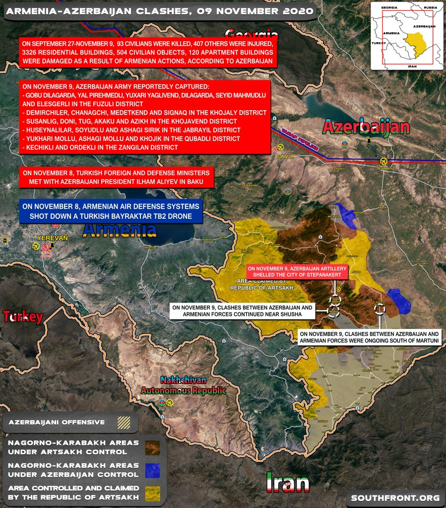 Armenian-Azerbaijani War: Military Situation In Nagorno-Karabakh On November 9, 2020