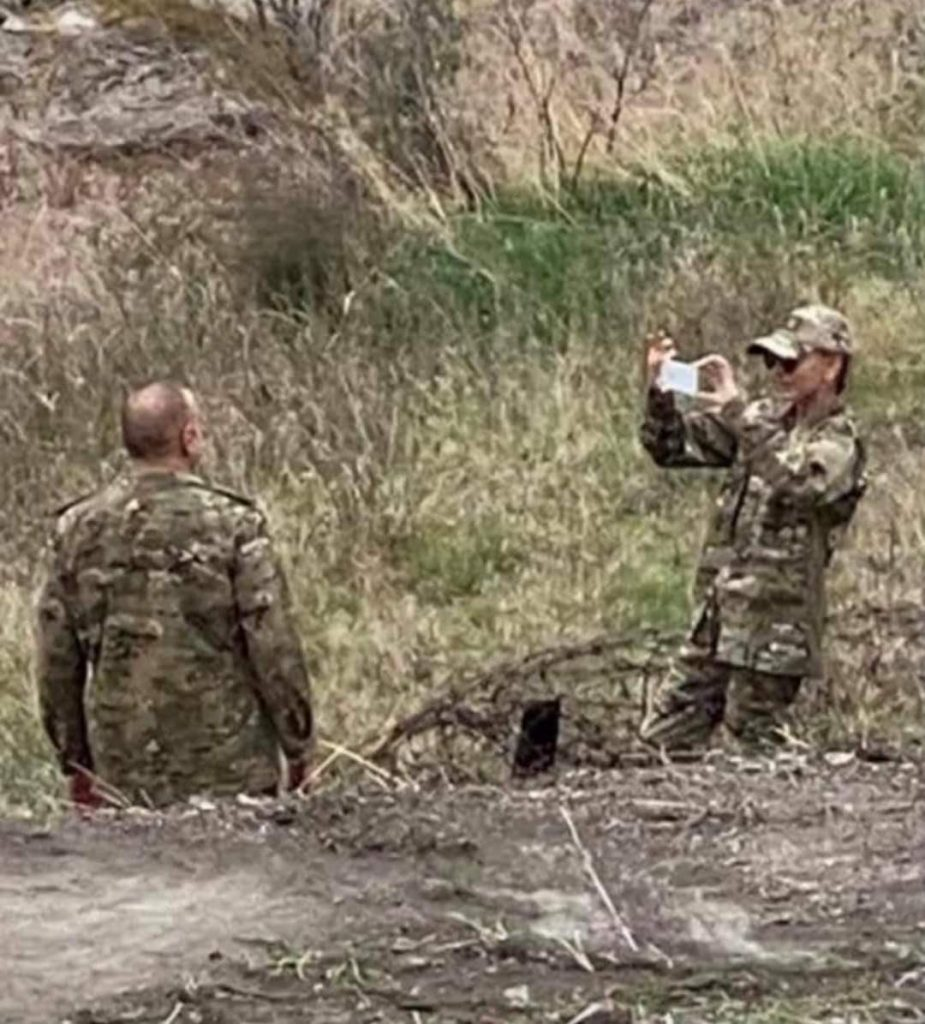 Karabakh Rambo: Azerbaijani President Drives Armoured Vehicle In Another District Captured From Armenians