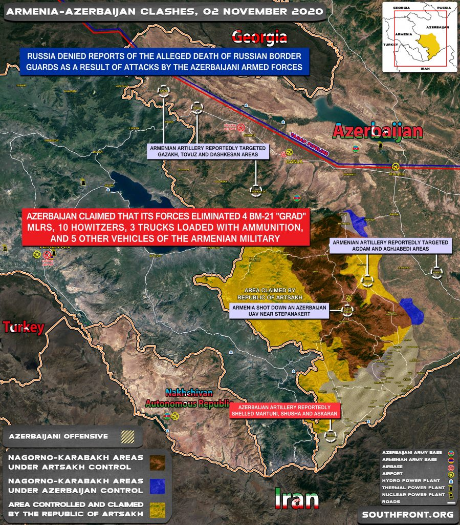 Armenian-Azerbaijani War: Military Situation In Nagorno-Karabakh On November 2, 2020