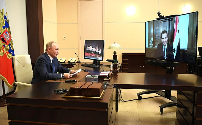 Putin And Assad Hold Video Conference: Refugees, Reconstruction And Terrorism