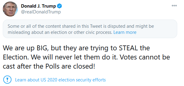 Trump Accuses Democrats Of Vote Fraud As Biden Gets Lead In Michigan And Wisconsin