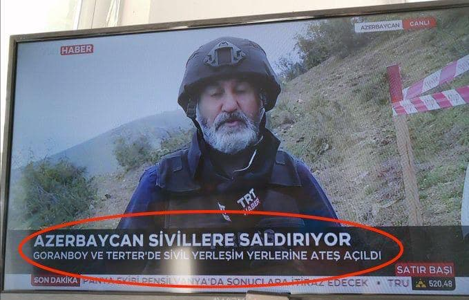 Accidental Truth: Turkish State TV Reports Azerbaijani Attack On Civilians In Nagorno-Karabakh
