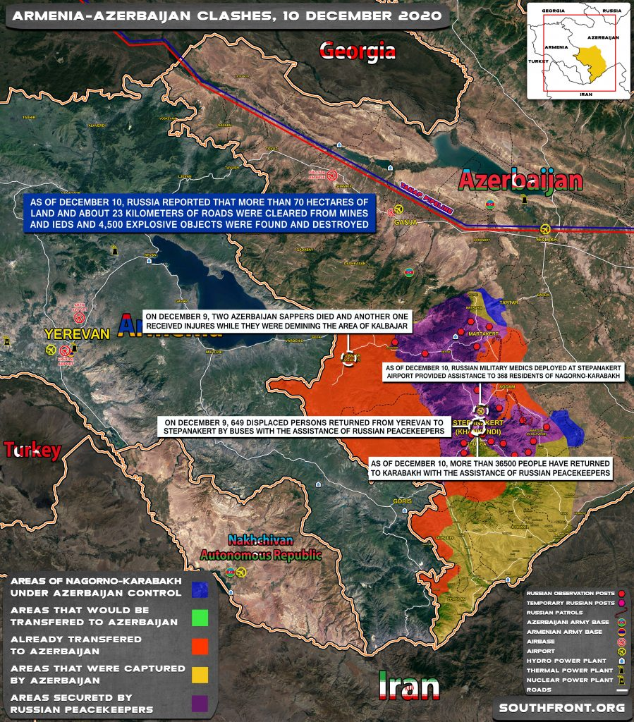 Map Update: Military Situation In Nagorno-Karabakh On December 10, 2020