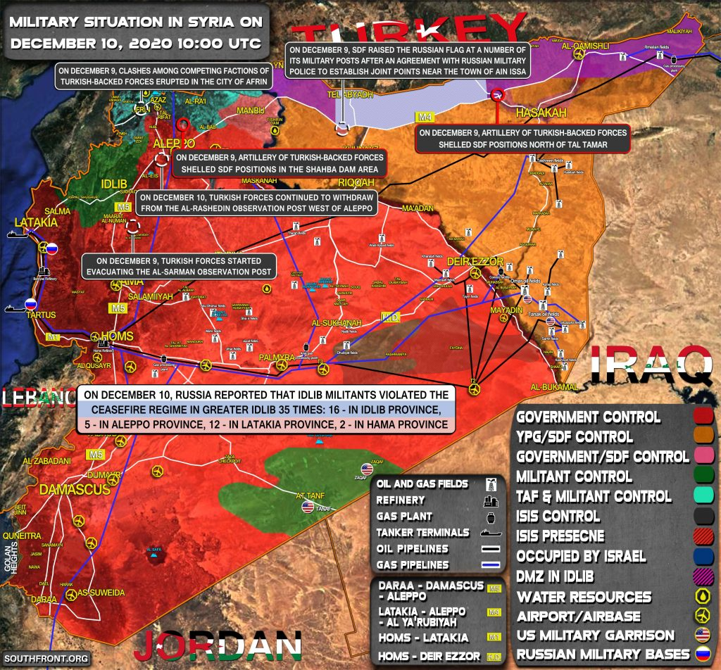 Military Situation In Syria On December 10, 2020 (Map Update)