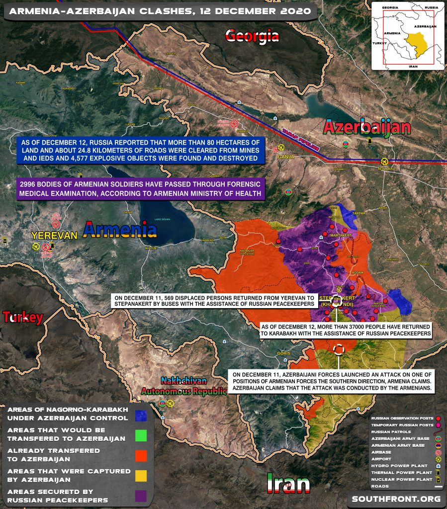 Azerbaijan Resumed Offensive Operations In Nagorno-Karabakh. Russian-Turkish Monitoring Center To Be located In Agdam