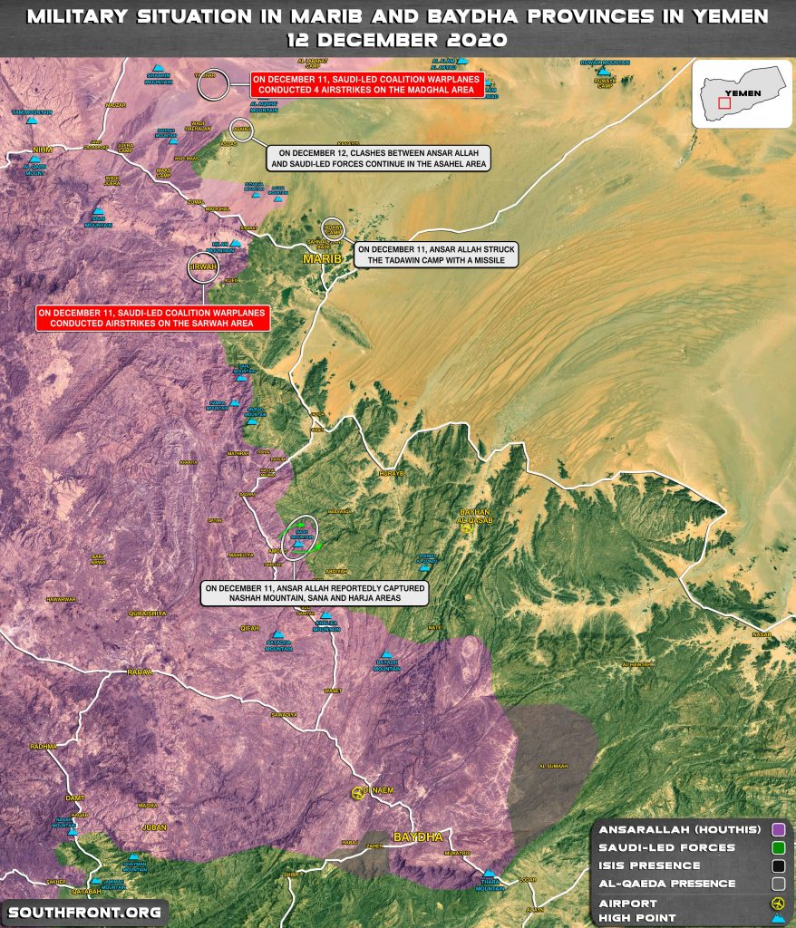 Yemeni Forces Make More Gains In Battle With Saudi Proxies In Marib (Map Update)