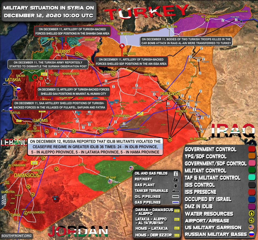 Military Situation In Syria On December 12, 2020 (Map Update)