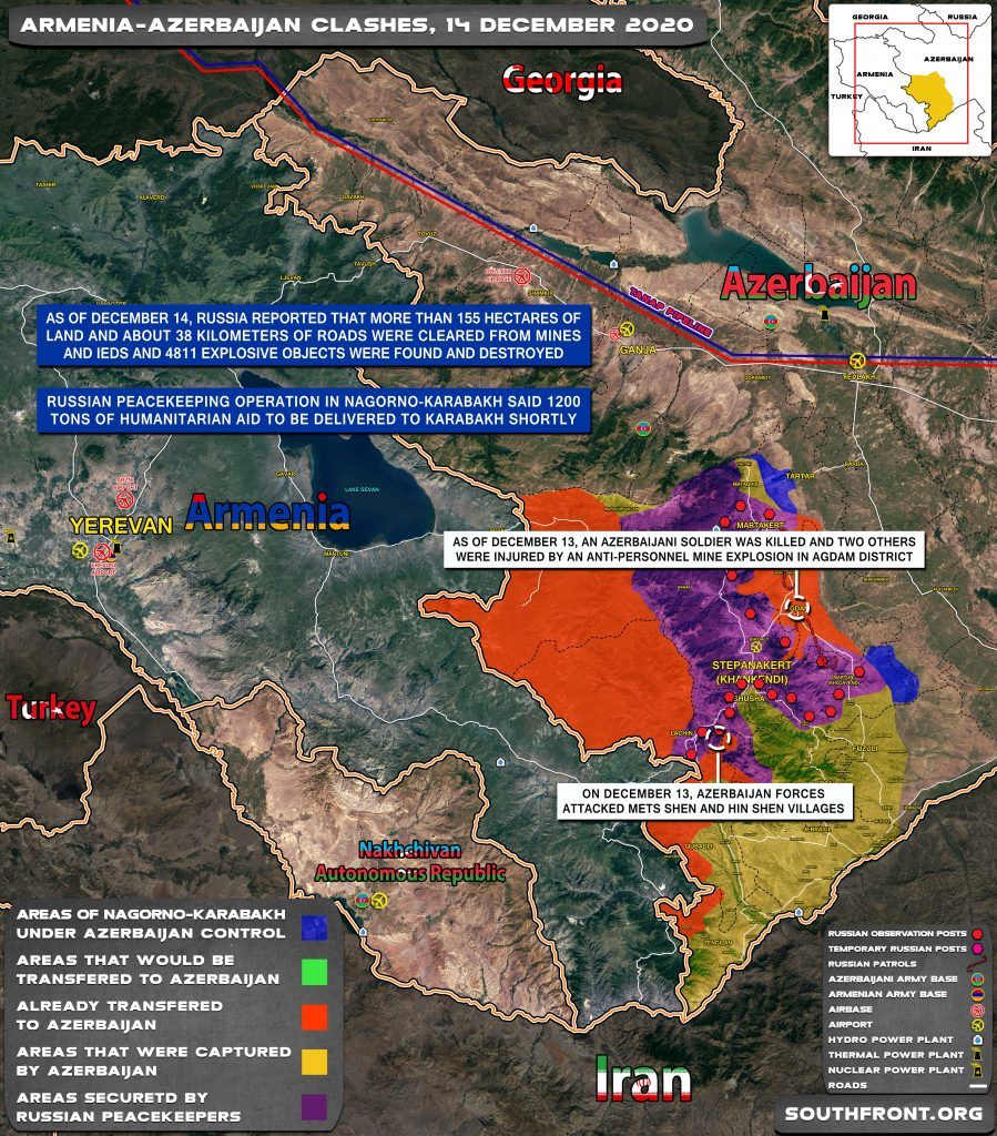 Map Update: Military Situation In Nagorno-Karabakh On December 14, 2020