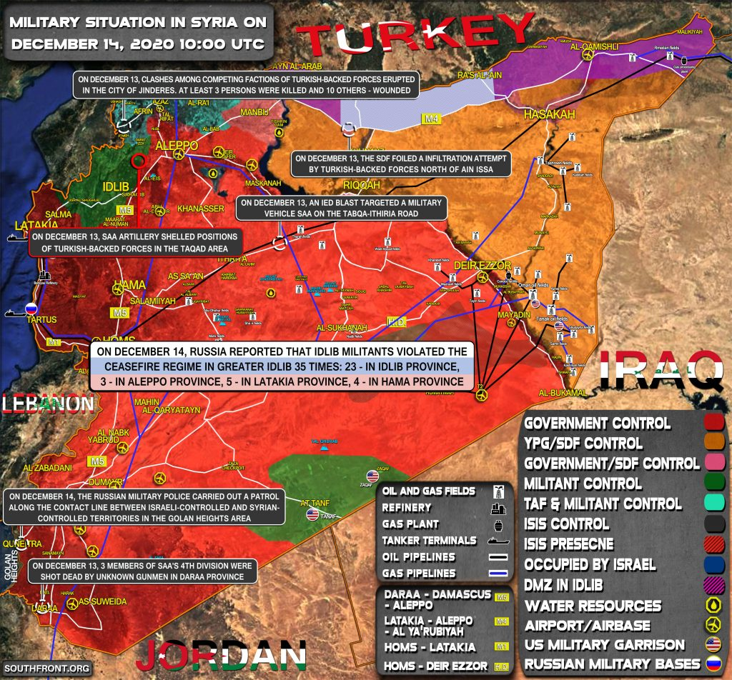 Military Situation In Syria On December 14, 2020 (Map Update)