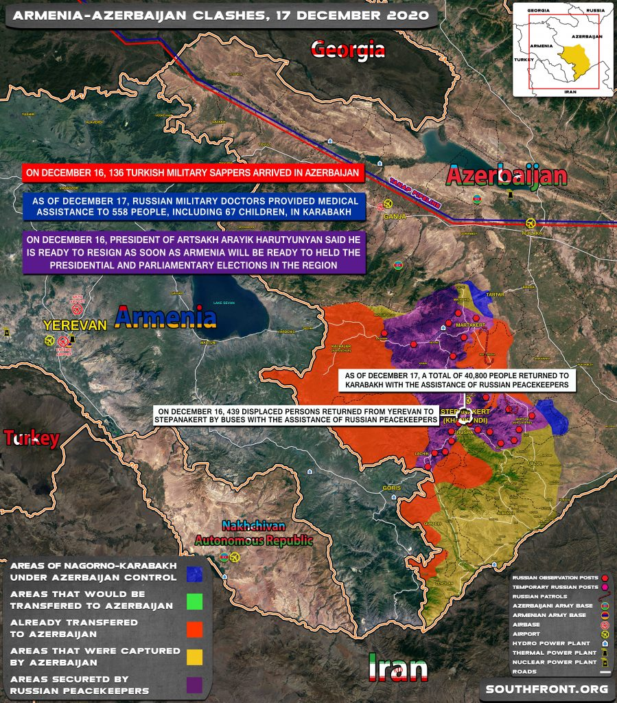 Map Update: Military Situation In Nagorno-Karabakh On December 17, 2020