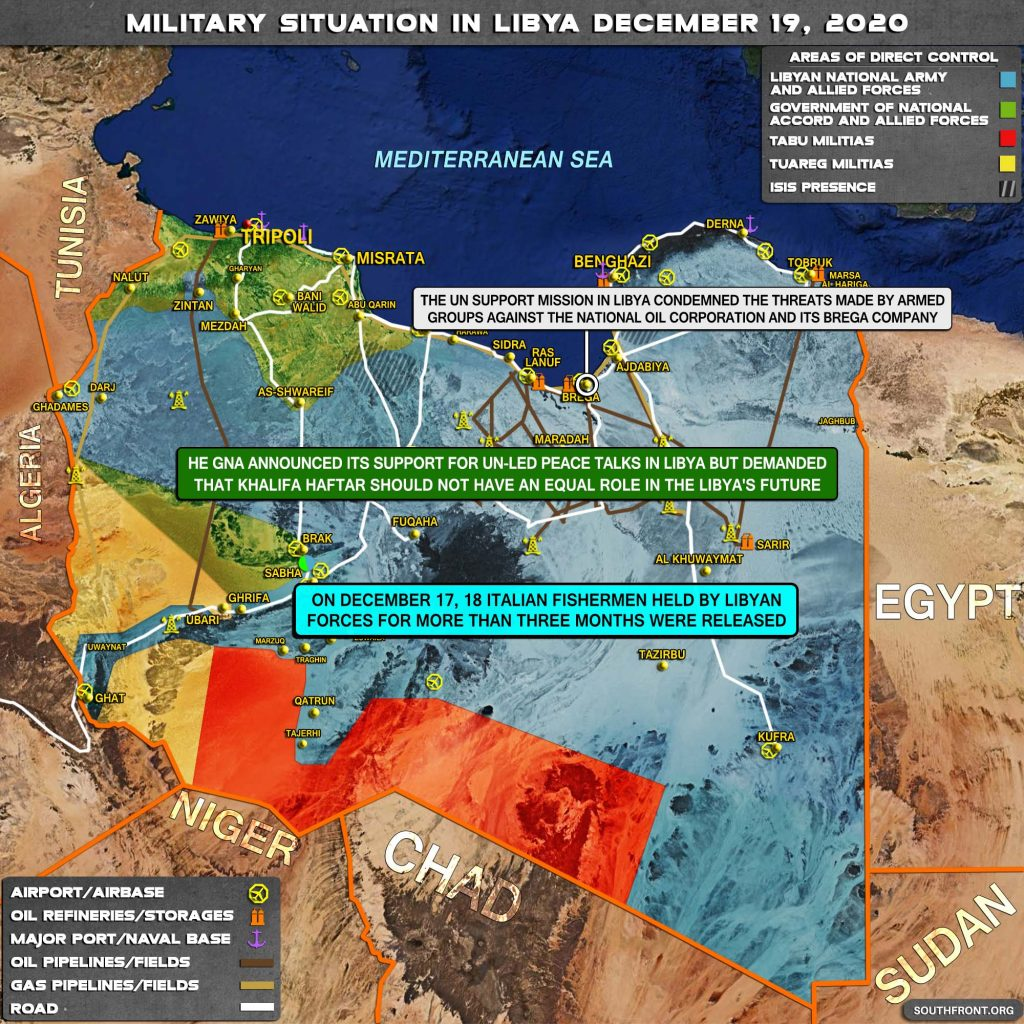 Military Situation In Libya On December 19, 2020 (Map Update)