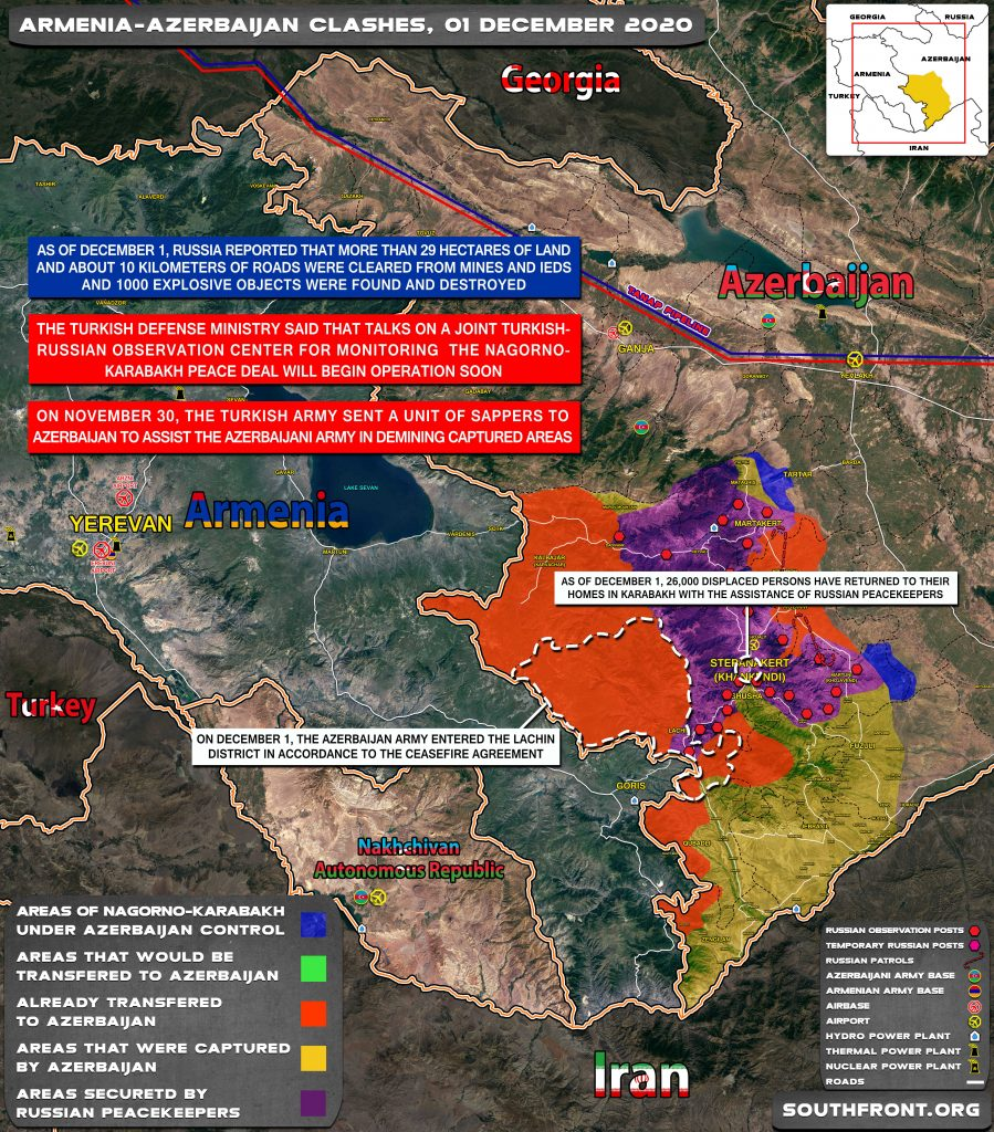 Map Update: Military Situation In Nagorno-Karabakh On December 1, 2020