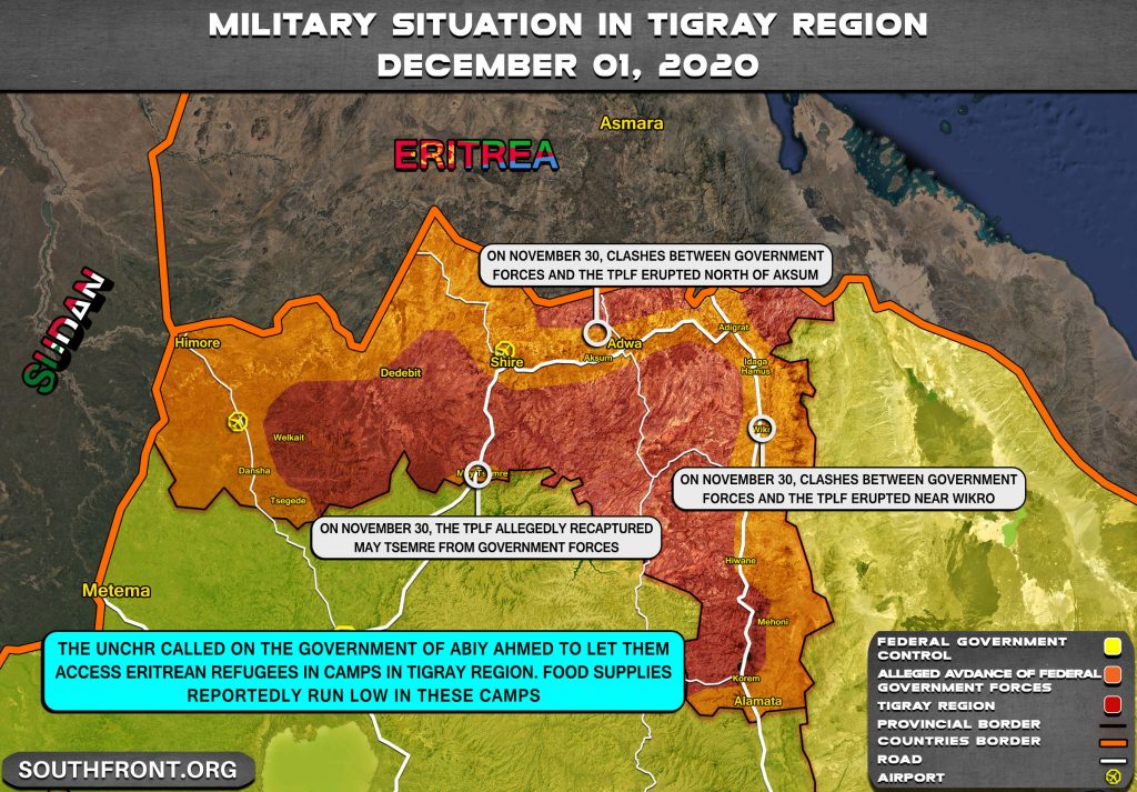 War In Ethiopia's Tigray Region Shows No Signs Of End Despite Advances Of Government Forces (Map Update)