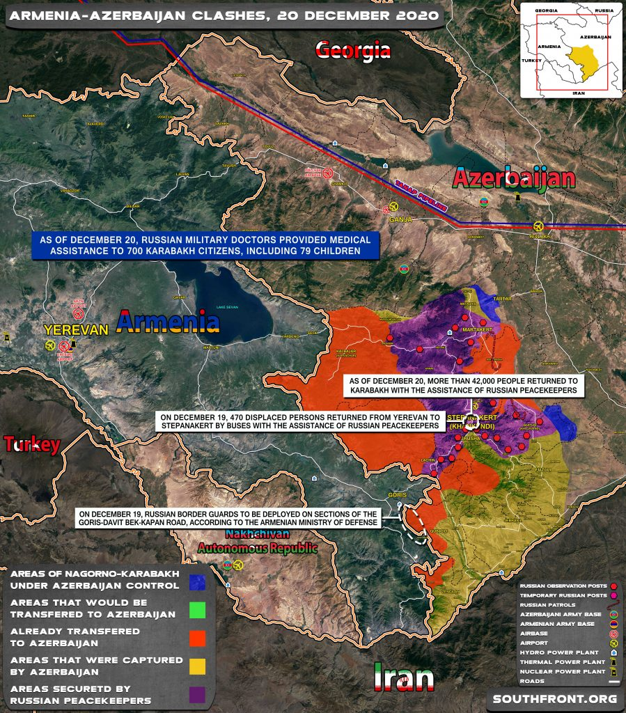 Map Update: Military Situation In Nagorno-Karabakh On December 20, 2020