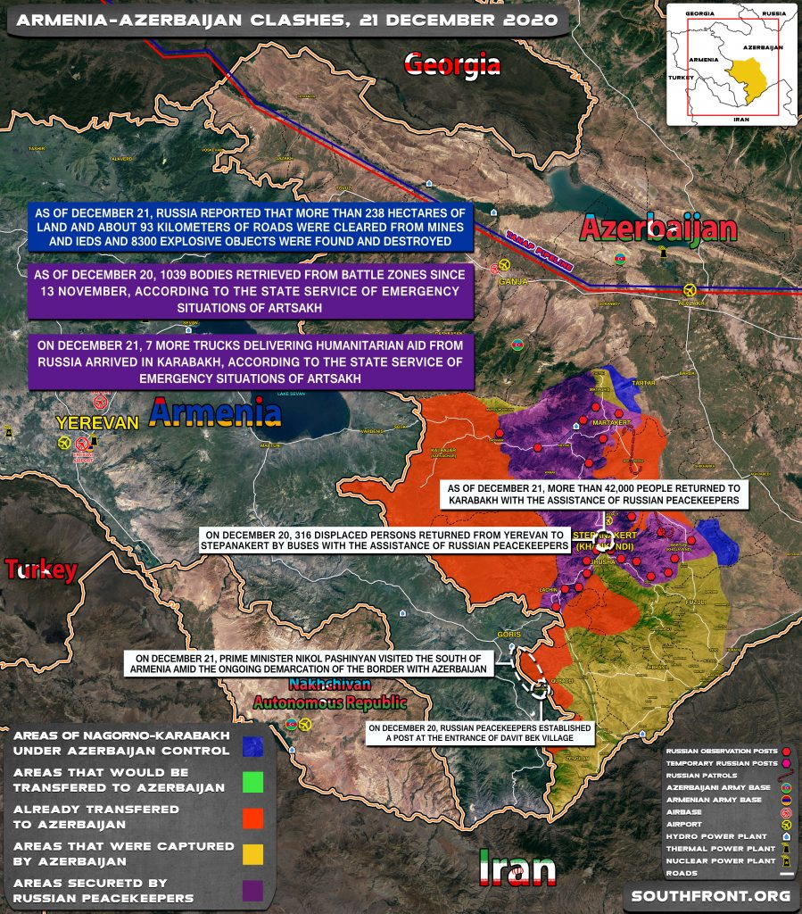 Map Update: Military Situation In Nagorno-Karabakh On December 21, 2020