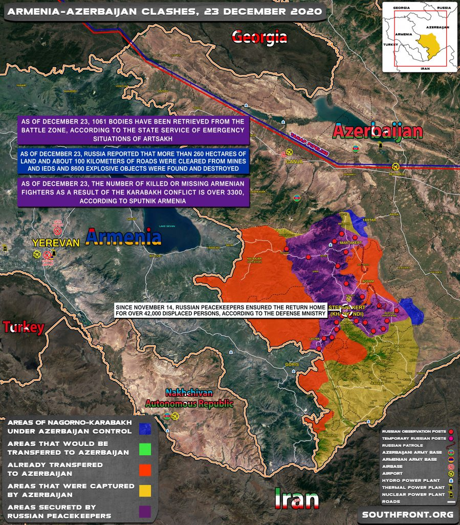 Map Update: Military Situation In Nagorno-Karabakh On December 23, 2020