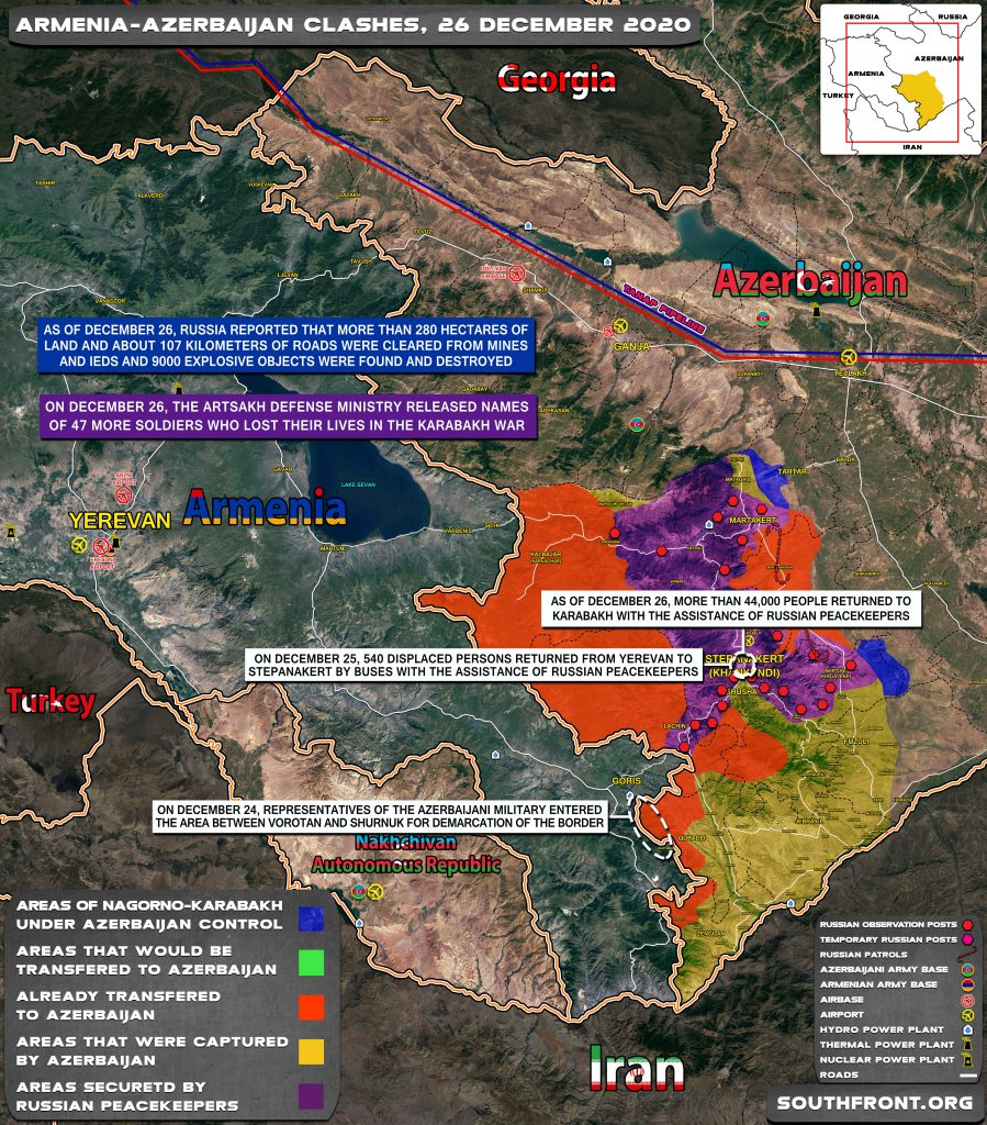 Map Update: Military Situation In Nagorno-Karabakh On December 26, 2020