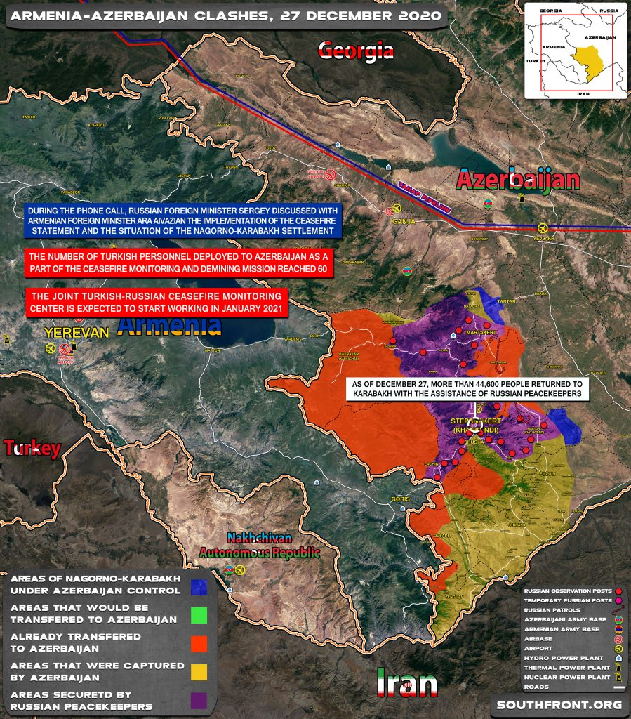 Map Update: Military Situation In Nagorno-Karabakh On December 27, 2020