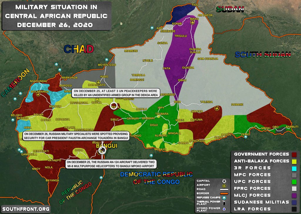 Map Update: Military Situation In Central African Republic