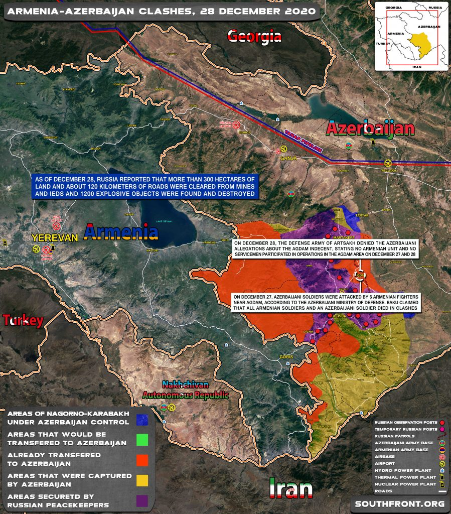 Map Update: Military Situation In Nagorno-Karabakh On December 28, 2020