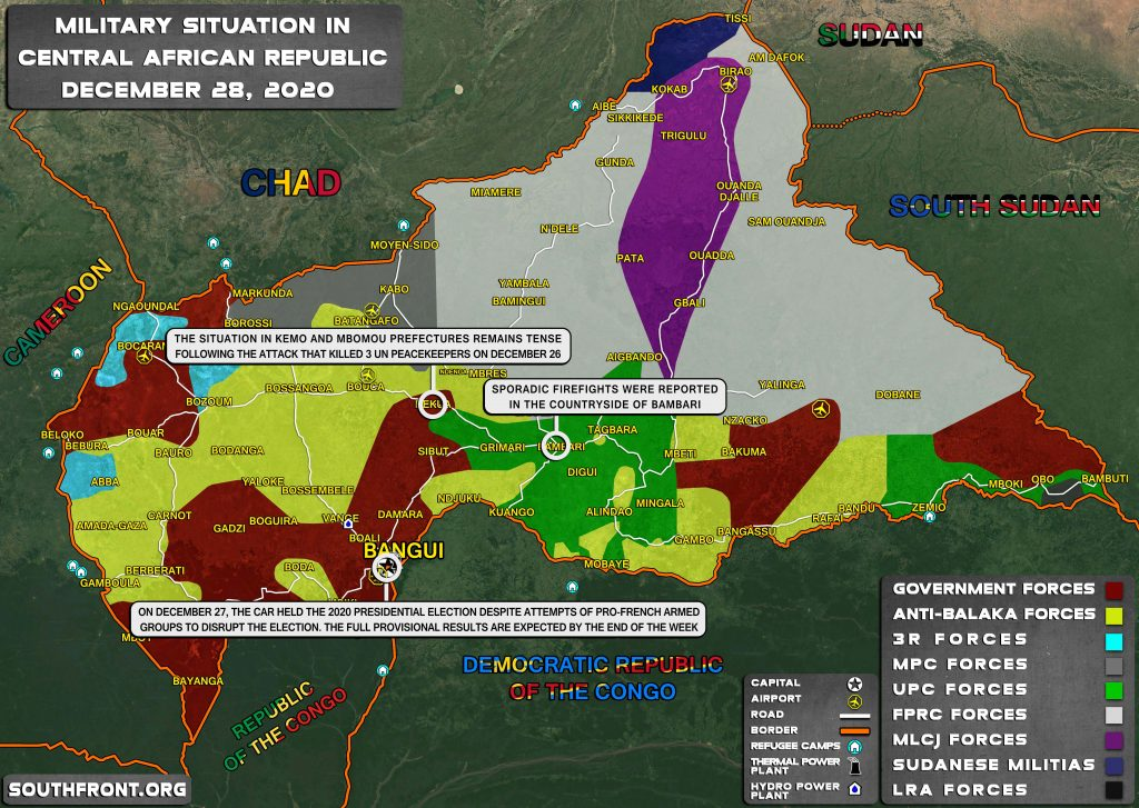Military Situation In Central African Republic On December 28, 2020 (Map Update)