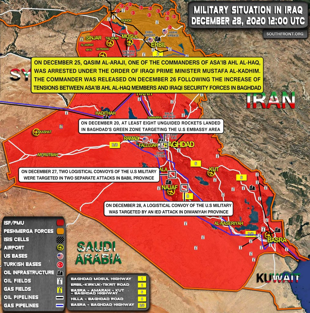 """Iraq's PMU Groups Say Rocket Attack On U.S. Embassy """"False Flag"""", Oppose Government Actions"""