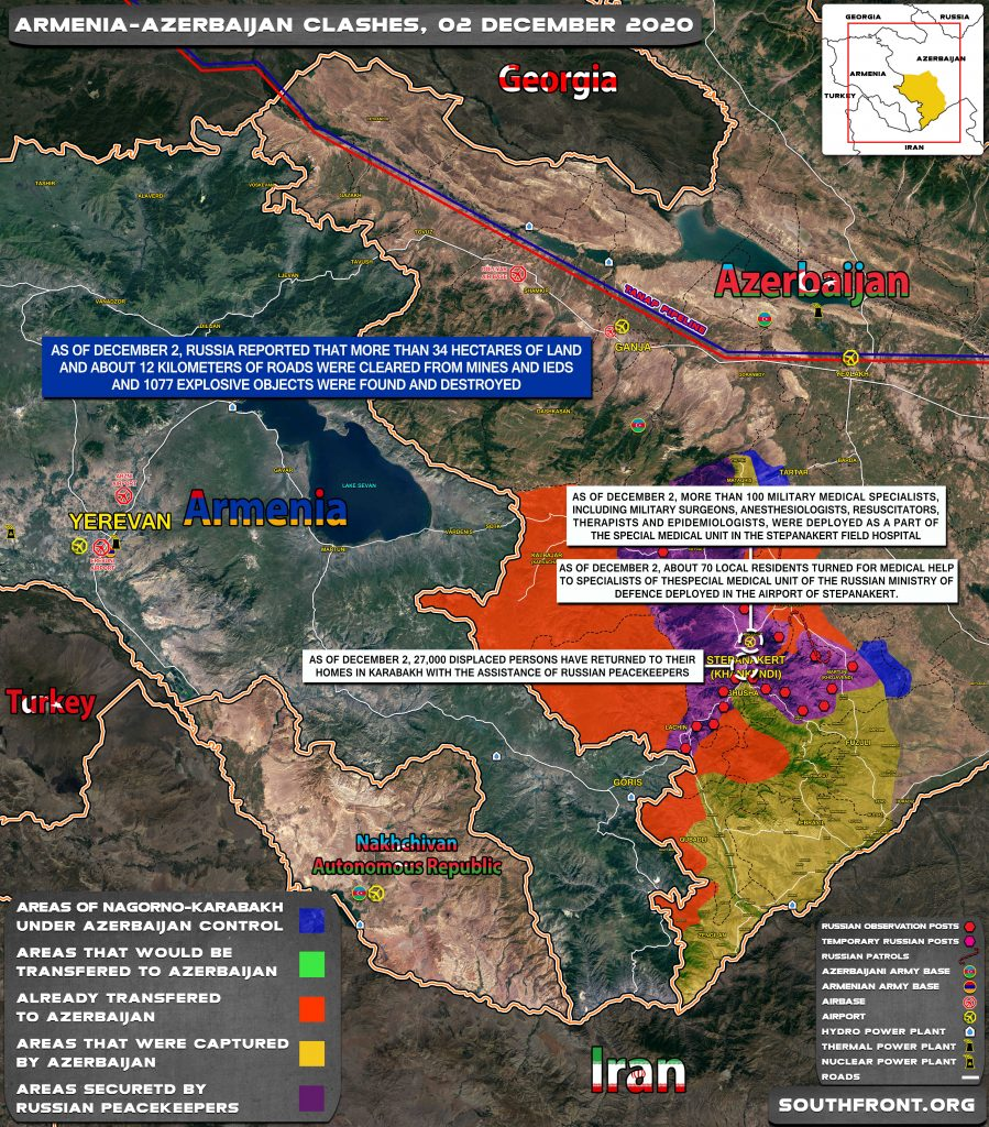Map Update: Military Situation In Nagorno-Karabakh On December 2, 2020