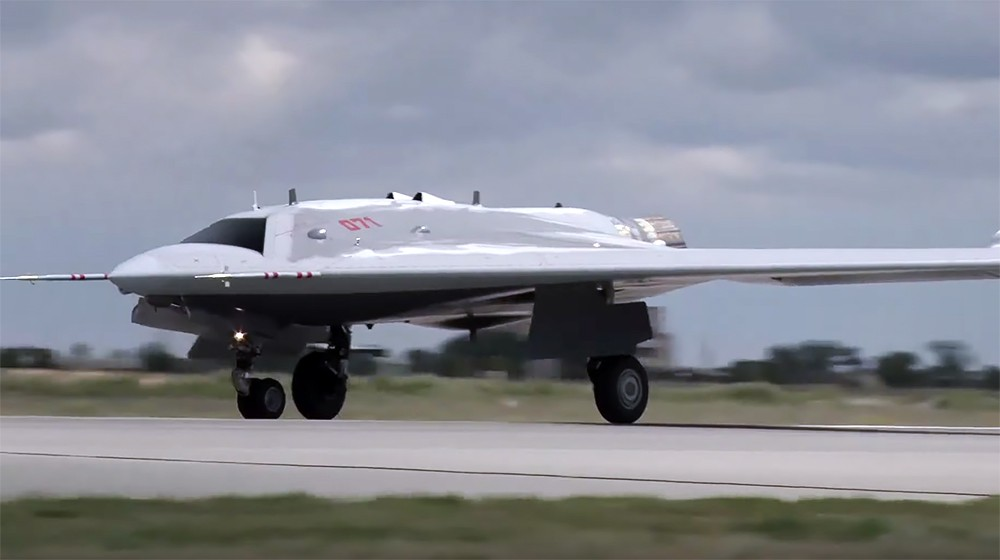 Russia Successfully Carries Out Test Flights Of S-70 Okhotnik-B Heavy Attack Drone In Fighter-Intercepter Mode