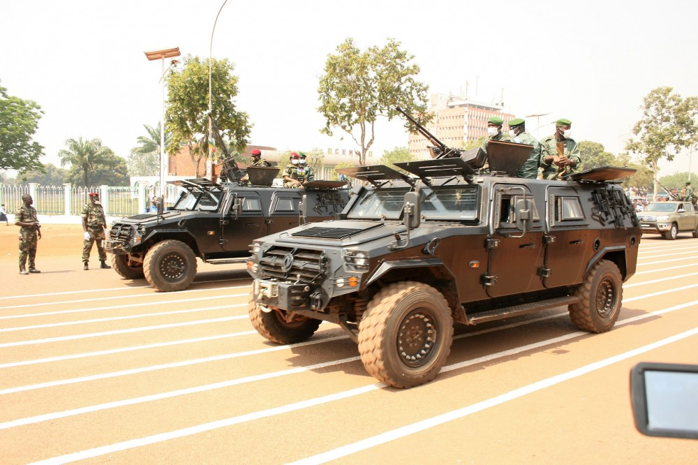 Russian PMCs, Vehicles Spotted At Military Parade In Central Africa (Photos, Video)