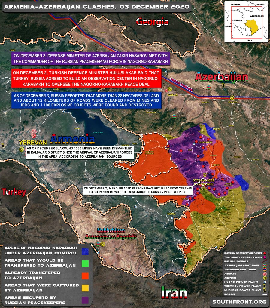 Map Update: Military Situation In Nagorno-Karabakh On December 3, 2020