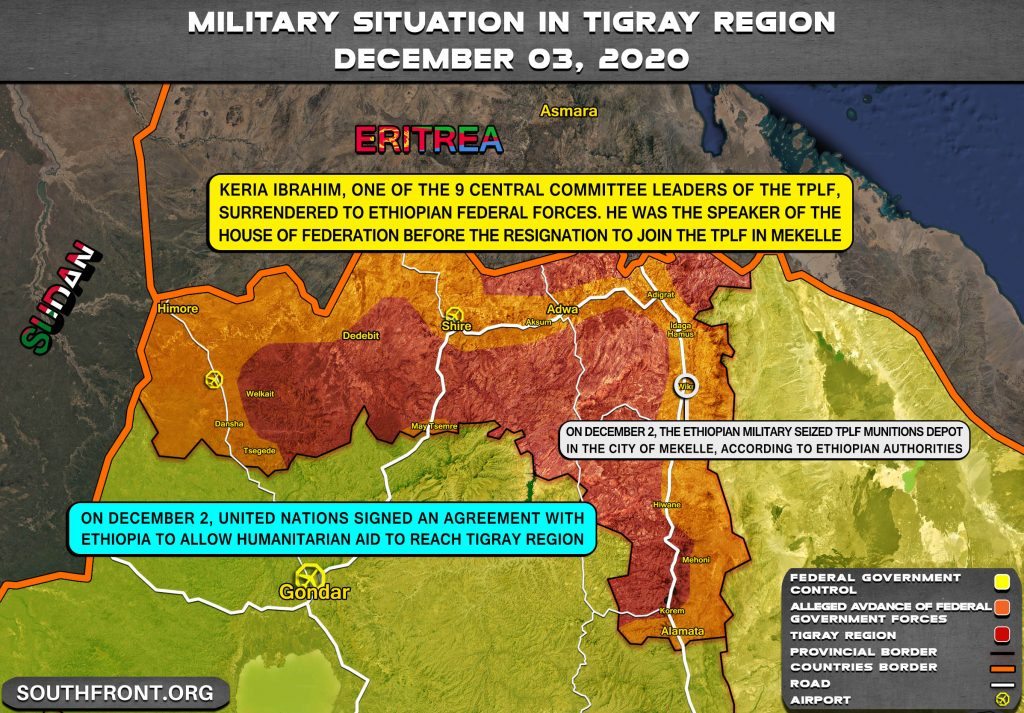 Map Update: Ethiopia's War With Rebel Tigray Region Continues Despite Victorious Statements