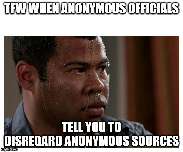 MSM Circle Has Been Closed: Unnamed U.S. Defense Officials Condemned Use Of Anonymous Sources